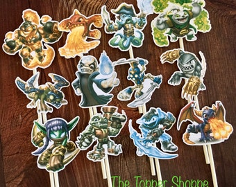SKYLANDERS Cupcake Toppers / Cake Toppers / Die Cuts / Birthday Party / Decorations / Cake Pops / Supplies / Decor / Fast Shipping!
