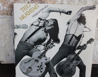 Ted Nugent - Free For All Vinyl Record LP, 1976 CBS Inc., Epic Records, Dog Eat Dog, Classic Rock, PE34121 Stereo