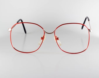 Marcolin Montecarlo 984-21 Made in Italy Unisex 51-15-130 Vintage Glasses Red NOS Deadstock - Free Shipping