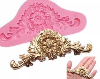 Baroque vintage silicone cake mould