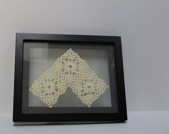 Lighted Crochet motif Wall art