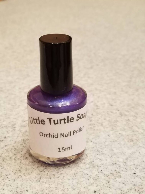 Orchid Nail Polish, 15ml, gift for her, handmade, gift idea, hand mixed, purple nail polish, dark purple nail polish,party favor