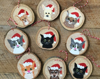 Custom Pet Ornament - Personallized Pet Ornament - Christmas Ornament - Cat Ornament - Dog Ornament - Animal Ornament