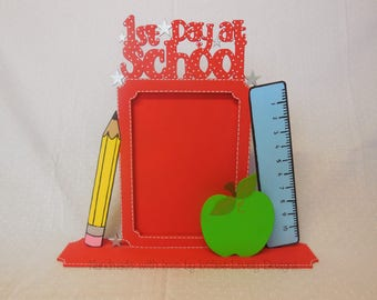 First Day at school Frame, Reception, Nursery, gift for memories, Keepsake