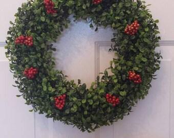 Boxwood wreath/front door wreath/artificial boxwood/door wreath/boxwood