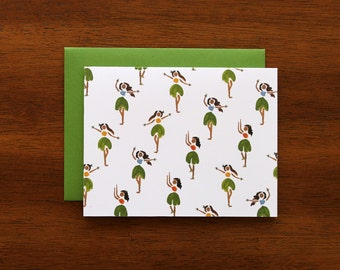 Hula Girls Everyday Greeting Card // A2 Size