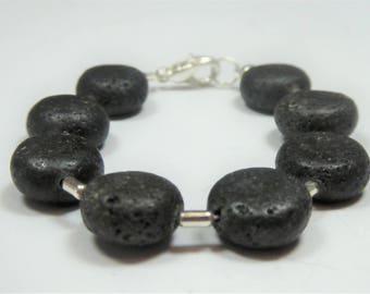 Bracelet lava lens ca 14mm