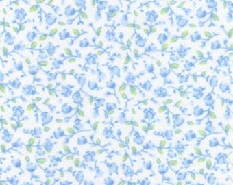 light blue floral cotton print