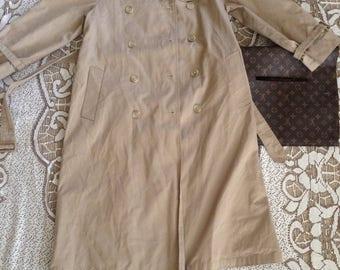 Vintage Evan Picone Khaki Trench Coat