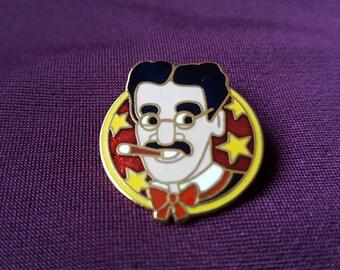 Vintage Cloisonne Groucho Marx pin