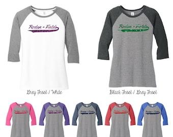 Glitter Rodan and Fields 3\4 Raglan Sleeve Shirt, Rodan and Fields Shirt, Rodan and Fields