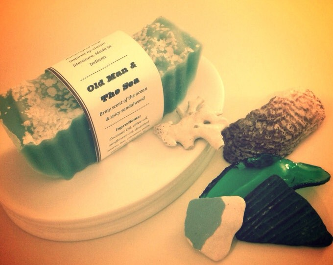 Old Man & the Sea Book Soap- Vegan Soap, Handmade Soap, Natural Soap, Cold Process Soap, Handcrafted Soap