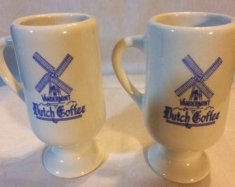 Vtg Set of 2 Vandermint Dutch Coffee Espresso Mugs