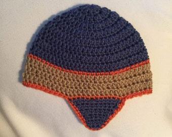 Crochet Beanie Hat with ear flaps, Crochet Beanie, Crochet Hat, Handmade Hats