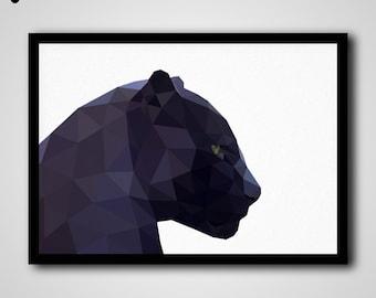 Black Panther Art, Black Panther Art Print, Black Panther Artwork, Black Panther Portrait, Instant Download Printable Art