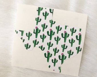Decal - Texas - Any state - Cactus