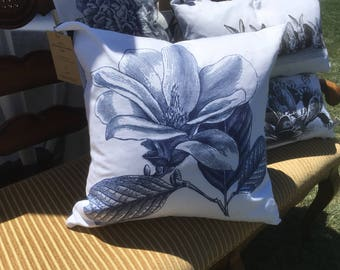 Magnolia Throw Pillow Cover