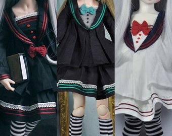 CODENOiR - Sailor Dress BJD clothes for msd / mdd / angel philia / 1/4 BJD/ Holiday