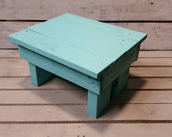 Wooden Step Stool-Reclaimed Step Stool-Handmade Step Stool-Pallet Step Stool-Rustic Bench