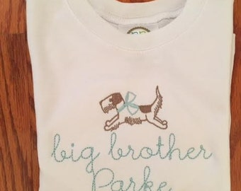 Big Brother shirt with puppy