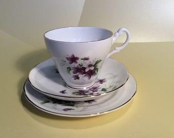 Royal Stuart Bone China tea cup, saucer & plate