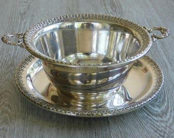 Wilcox Rose Marie Bowl & Dish
