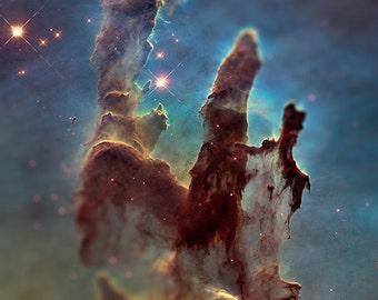 Tilt Shift Pillars of Creation NASA Photographic Print 8x10 inch FREE SHIPPING