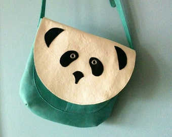 Panda Crossbody Purse Handbag, Leather Purse, Made to Order, Pre-Order,