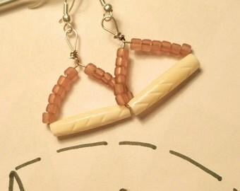 Earrings triangle pendant