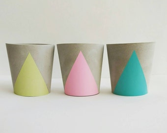 Concrete Cup Tealight Holder - choice of colours