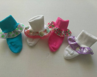 Baby ruffle socks, baby socks, infant socks, bling socks, fancy baby socks, church socks,white ruffle socks, newborn socks