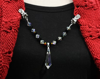 Rejuvenate Your Scarf, Sweater, T-shirt, Cardigan or Dress with Swarovski Crystals and Czech Crystals  Sweater Clip Guard