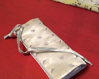 Vintage  Satin Travel Jewelry Case/ Andre Richard