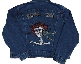 vintage Grateful Dead hand painted denim jacket