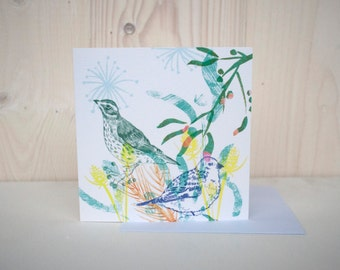 Winter Birds greetings/Christmas card