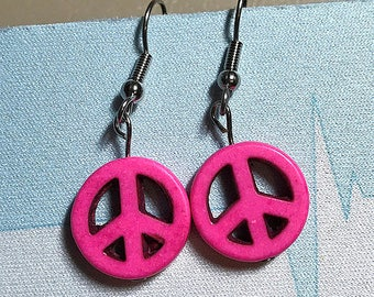 Bright Peace Sign Earrings