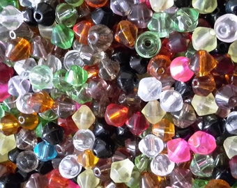 Assorted Crystal Bicone Beads - 4mm, 6mm, 8mm