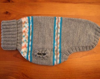 Knitted Dog Sweater - Knitted Dog Jumper - Handmade Dog Sweater - Dog Sweater - Dog Walking Sweater
