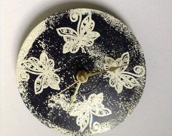 Butterfly CD battery clock