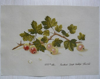 "Cross Stitch Picture Unframed ""Gooseberry"""