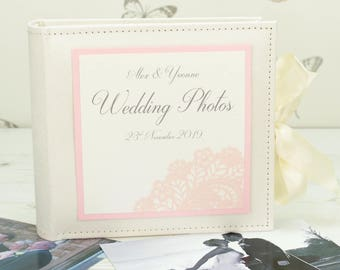Personalised Vintage Lace Wedding Photo Album