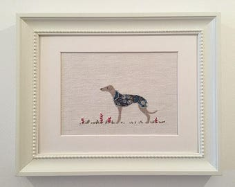 Greyhound picture, Whippet picture, Lurcher picture, Italian greyhound picture, gift for dog lover. My name is Pearl!