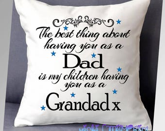 Fathers day Dad Grandad cushion cover gift