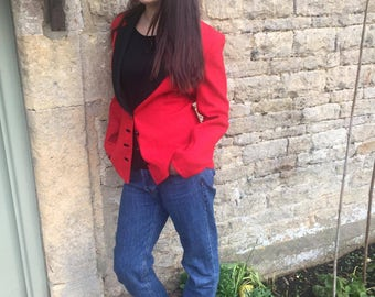 Red and black Louis Feraud jacket