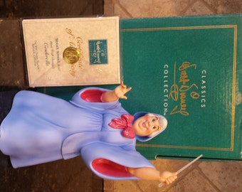 Walt Disney Cinderella FAIRY GODMOTHER Bibbidi, Bobbidi, Boo ~ From the Disney Movie Cinderella ~ Mint with COA