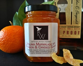 Satsuma Marmalade, Hand Crafted Jam, Gourmet Jelly, Mothers Day Gift, Gift for Foodie, Gift for Teacher, Hostess Gift, Gift for Her,