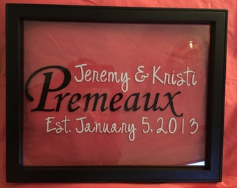 11x14 Personalized Frame