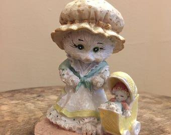 Cute animal and baby figurine