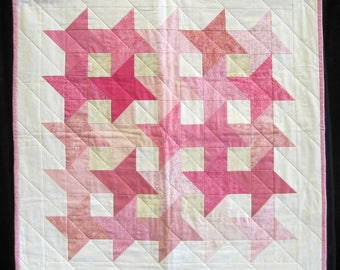 Pink Friendship Star - finished wall hanging quilt