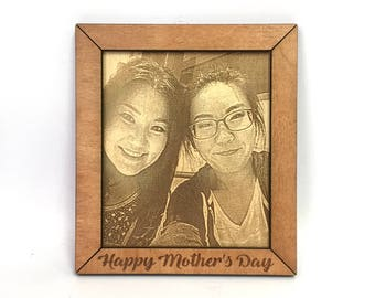 Mother's Day Photo Engraving - Mother's Day Gift - Custom Photo Engraving - Personalized Picture Engraving - Photo Engraved on Wood
